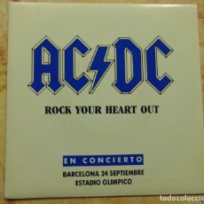 Discos de vinilo: AC/DC – ROCK YOUR HEART OUT - SINGLE PROMOCIONAL 1991 COMO NUEVO. Lote 199208621
