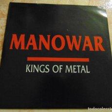 Discos de vinilo: MANOWAR – KINGS OF METAL - SINGLE PROMO ESPAÑOL 1988. Lote 199209005