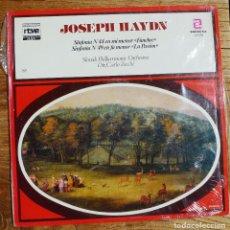 Discos de vinilo: JOSEPH HAYDN - SINFONIA 44 FUNEBRE - SINFONIA 49 LA PASION - MUNDO DE LA MÚSICA - RTVE - ZAFIRO. Lote 199217303