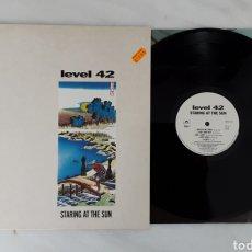 Discos de vinilo: LEVEL 42 STARTING AT THE SUN LP. Lote 199217560