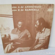 Discos de vinilo: CON A DE ANZOATEGUI CON B DE BAROCELA. LP VINILO. FERMATA 1975. VER FOTOGRAFIAS ADJUNTAS. Lote 199222871