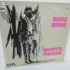 Discos de vinilo: MANO BRAVA. QUINTETO PIRINCHO. DIR FRANCISCO CANARO. ODEON 1969. LP VINILO. Lote 199223462