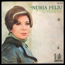 Discos de vinilo: XX VINILO, NURIA FELIU, NO ENCENGUIS L,ESPELMA Y DE TU RES NO VULL.. Lote 199236141