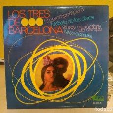 Discos de vinilo: LOS TRES DE BARCELONA - EL POROMPOMPERO + 3 - EP DEL SELLO EKIPO REF. 66.213-C DEL AÑO 1967 EX. Lote 199250760