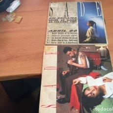Discos de vinilo: SADE LOTE 8NEVER AS GOOD AS THE FIRST TIME + IS IT A CRIME) SINGLE ESPAÑA PROMO (EPI16). Lote 199253765