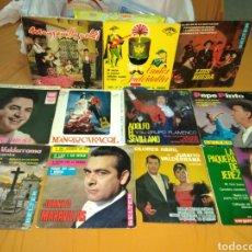 Discos de vinilo: LOTE 11 DISCOS DE VINILO EPS - MANOLO CARACOL - ANTONIO MOLINA - JUANITO VALDERRAMA - LUIS RUEDA .... Lote 197882890