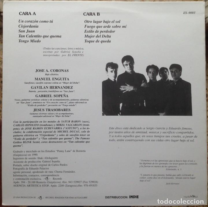 Discos de vinilo: El Frente - Otro lugar bajo el sol - LP - 1991 Es 3 Records - Edición Española - Foto 2 - 199258208
