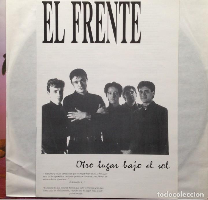 Discos de vinilo: El Frente - Otro lugar bajo el sol - LP - 1991 Es 3 Records - Edición Española - Foto 3 - 199258208