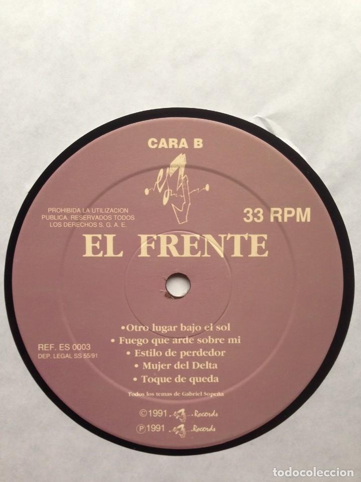 Discos de vinilo: El Frente - Otro lugar bajo el sol - LP - 1991 Es 3 Records - Edición Española - Foto 6 - 199258208