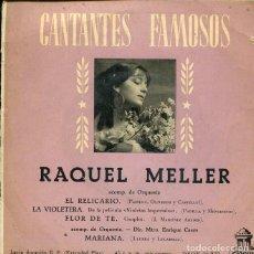 Discos de vinilo: RAQUEL MELLER / FLOR DE TE + 3 (EP 1959). Lote 199266990