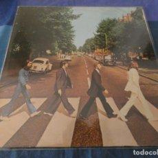 Discos de vinil: LP THE BEATLES ABBEY ROAD ESPAÑOL AÑO DESCONOCIDO ¿1976? LABEL AZUL CLARITO BUEN ESTADO VINILO. Lote 199273718