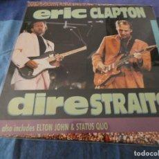 Discos de vinilo: CURIOSO LASER DISC ERIC CLAPTON DIRE STRAITS ELTON JOHN Y STATUS QUO EN FETIVLA KNEBWORTH. Lote 199276821