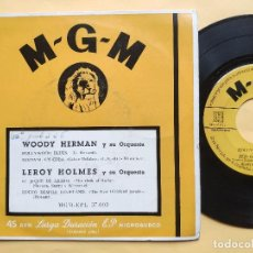 Discos de vinilo: WOODY HERMAN / LEROY HOLMES - EP SPAIN PS - HOLLYWOOD BLUES / FESTIVAL EN CUBA + 2. Lote 199279685