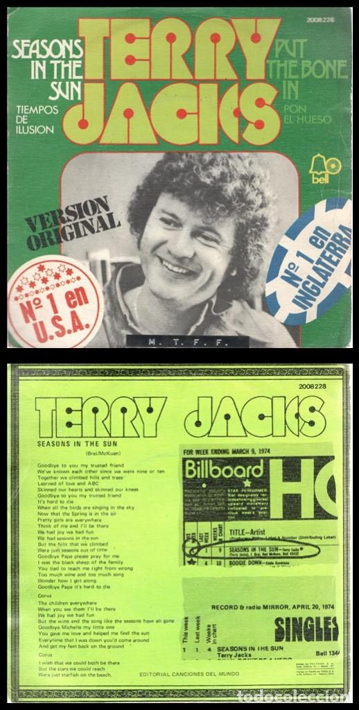 XX VINILO, TERRY JACKS, SEASONS IN THE SUN Y PUT THE BONE IN. (Música - Discos - Singles Vinilo - Cantautores Extranjeros)