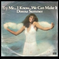 Disques de vinyle: XX VINILO, DONNA SUMMER, TRY ME, I KNOW WE CAN MAKE IT Y WASTED.. Lote 199283498