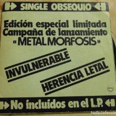 Disques de vinyle: BARON ROJO - INVULNERABLE - SINGLE PROMO 1983. Lote 199309068