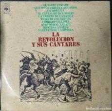 Discos de vinilo: LA REVOLUCIÓN Y SUS CANTARES. VINILO LP. Lote 199315592