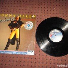 Discos de vinilo: DONNA ALLEN - SERIOUS SPECIAL EXTENDED USA REMIX - GERMANY - TSR MUSIC - PLS 618 - L -. Lote 199321108