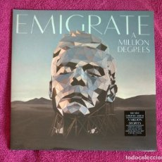 Discos de vinilo: EMIGRATE - A MILLION DEGREES 12'' LP GATEFOLD NUEVO Y PRECINTADO - METAL INDUSTRIAL ROCK ALTERNATIVO. Lote 199326015