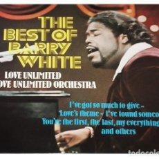 Discos de vinilo: V773 - BARRY WHITE. THE BEST OF. LP VINILO. Lote 199331812
