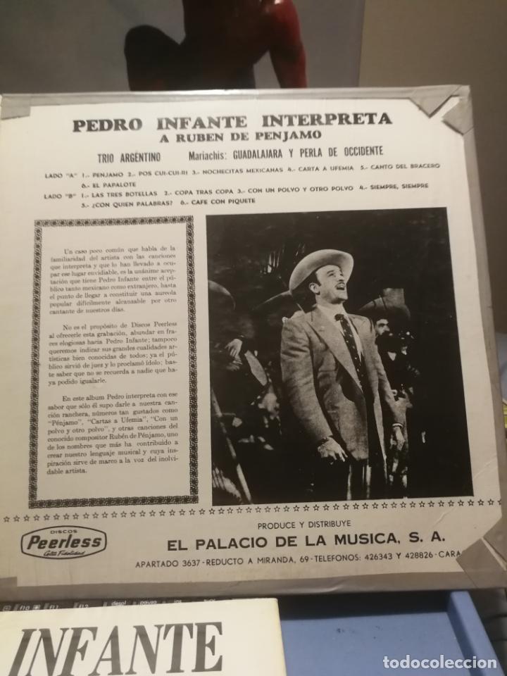 Discos de vinilo: 3 LPS PEDRO INFANTE ORFEON VOL. 1, INTERPRETA A RUBEN PENJAMO Y MUSICA DE SUS PELICULAS, EDICION VEN - Foto 6 - 199340752