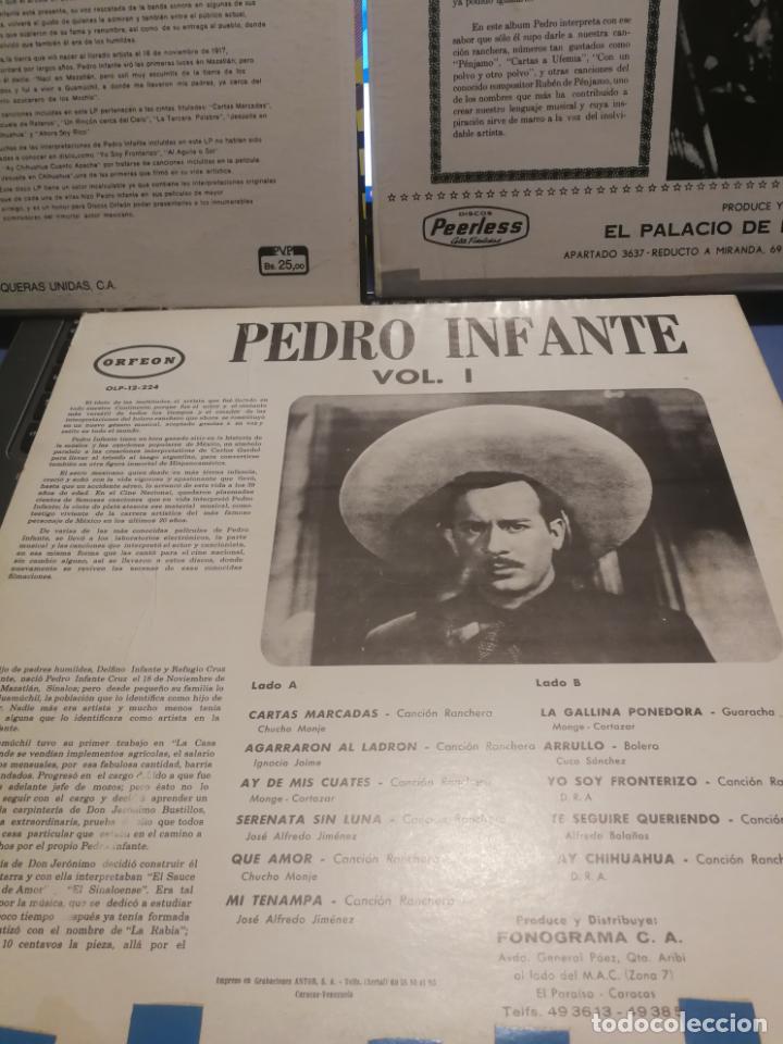 Discos de vinilo: 3 LPS PEDRO INFANTE ORFEON VOL. 1, INTERPRETA A RUBEN PENJAMO Y MUSICA DE SUS PELICULAS, EDICION VEN - Foto 7 - 199340752