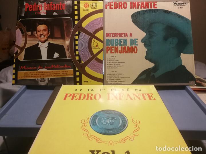 3 LPS PEDRO INFANTE ORFEON VOL. 1, INTERPRETA A RUBEN PENJAMO Y MUSICA DE SUS PELICULAS, EDICION VEN (Música - Discos - LP Vinilo - Grupos y Solistas de latinoamérica)