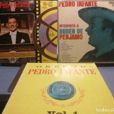 Discos de vinilo: 3 LPS PEDRO INFANTE ORFEON VOL. 1, INTERPRETA A RUBEN PENJAMO Y MUSICA DE SUS PELICULAS, EDICION VEN. Lote 199340752