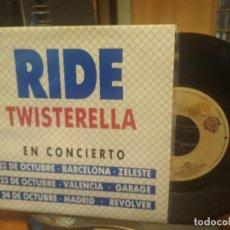 Discos de vinilo: RIDE TWISTERELLA SINGLE SPAIN 1992 PEPETO TOP. Lote 199349371