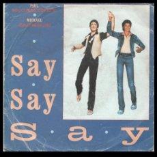 Discos de vinil: XX VINILO, PAUL MCCARTNEY & MICHAEL JACKSON. SAY, SAY, SAY, Y ODE TO KOALA BEAR.. Lote 199362745