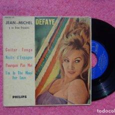 Discos de vinilo: EP JEAN MICHEL DEFAYE Y SU GRAN ORQUETA - GUITAR-TANGO +3 - 424.237 PE - (VG+/VG+). Lote 199377630