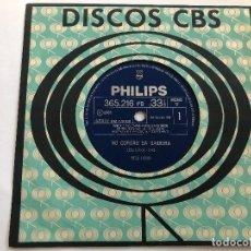 Discos de vinilo: DISCO 7 PULGADAS EDU LOBO /CATARINA E MARIANA/ NO CORDAO DA SAUDEURA EDITADO EN BRASIL 1967. Lote 199381645