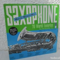 Discos de vinilo: SAXOPHONE. 70 WORLD FAVORITES EASY SOLOS. 2 LP VINILO. MUSIC MINUS ONE. 1979. Lote 199388782