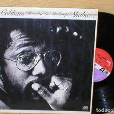Discos de vinilo: BILLY COBHAM SPAIN LP RECORDED LIVE IN EUROPE GRABADO EN DIRECTO SHABAZZ JAZZ ROCK FUSION ORIG 1975. Lote 199412410