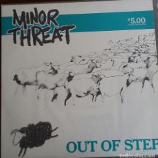 Discos de vinilo: MINOR THREAT - OUT OF STEP. Lote 199416790
