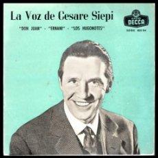 Discos de vinilo: XX VINILO, CESARE SIEPI, DON JUAN, ERNANI Y LOS HUGONOTES.. Lote 199420793
