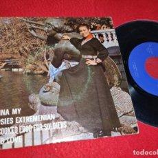 Discos de vinilo: MARIA DE LAS MERCEDES PENNA MY/GYPSIES EXTREMENIAN/MY COOKED FOOD FOR SOLIERS +1 EP 1976 BARNAFON. Lote 199424647