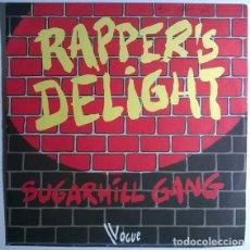 Discos de vinilo: SUGARHILL GANG. RAPPER'S DELIGHT/ RAPPER'S DELIGHT. VOGUE, FRANCE 1979 SINGLE. Lote 199426457