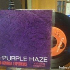 Discos de vinilo: JIMI HENDRIX EXPERIENCE PURPLE HAZE / HEY JOE / FIRE + 1 EP MEJICO 1968 PEPETO TOP. Lote 199451808