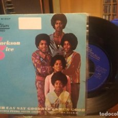 Discos de vinilo: JACKSON FIVE NEVER CAN SAY GOODBYE SINGLE SPAIN 1971 PEPETO TOP. Lote 199451987