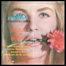 Discos de vinilo: XX VINILO, RAY CONNIFF, DIGALO CON MUSICA, JOVEN PARA AMAR, NOCHE Y DIA Y EXTRAÑO EN EL PARAISO.. Lote 199457728