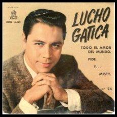 Discos de vinilo: XX VINILO, LUCHO GATICA, TODO EL AMOR DEL MUNDO, Y, PIDE Y MISTY.. Lote 199461656