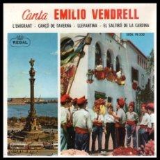 Discos de vinilo: XX VINILO, EMILIO VENDRELL, L,EMIGRANT, CANSO DE TAVERNA, LLEVANTINA Y EL SALTIRO DE LA CARDINA.. Lote 199465432