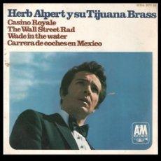 Discos de vinilo: XX VINILO, HERB ALPERT Y SU TIJUANA BRASS, CASINO ROYALE, WADE IN THE WATER, THE WALL STREET RAD.. Lote 199466202
