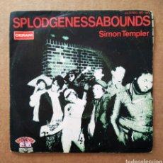 Discos de vinilo: VINILO DE 7 PULGADAS SPLODGENESSABOUNDS: SIMON TEMPLER (DERAM/COLUMBIA, 1980). PROMOCIONAL.. Lote 199474185