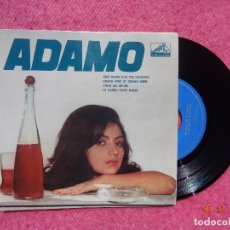 Discos de vinilo: EP ADAMO - MES MAINS SUR TES HANCHES +3 - LEG 6035 - PORTUGAL PRESS (NM/NM). Lote 199478191