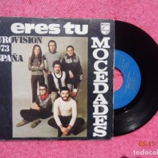 Discos de vinilo: SINGLE MOCEDADES -ERES TU - PHILIPS 6021 071 - BELGIUM PRESS EUROVISION 1973 (VG+/VG++). Lote 199478577