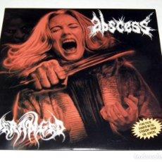 Discos de vinilo: ABSCESS - DERANGED - SPLIT. Lote 199485997