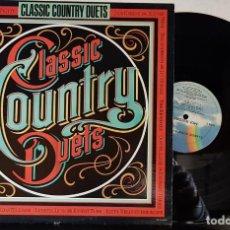 Discos de vinilo: CLASSIC COUNTRY DUETS - MCA RECORDS 1985 - CALIFRONIA USA. Lote 199486401