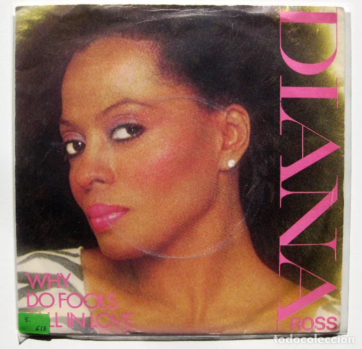 DIANA ROSS - WHY DO FOOLS FALL IN LOVE - SINGLE CAPITOL RECORDS 1981 UK BPY (Música - Discos - Singles Vinilo - Funk, Soul y Black Music)